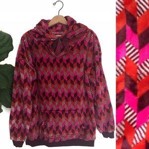 Vera Bradley Plus Soft Fleece Hooded Sweatshirt!